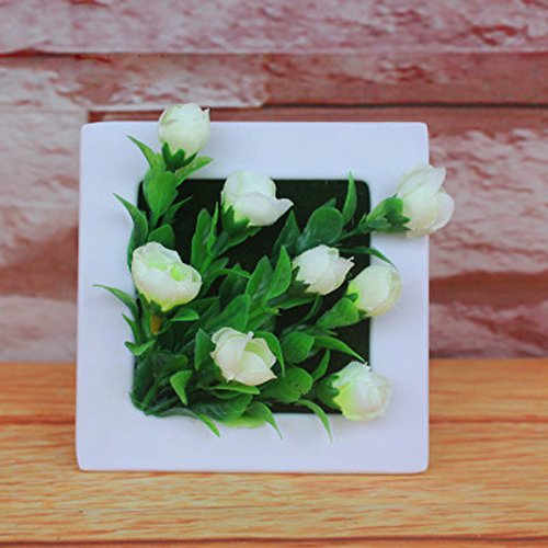 calcifer New populaire 3D mur Decor artificielle fleur plante décoration murale encadrée Home Hôtel Jardin Décoration
