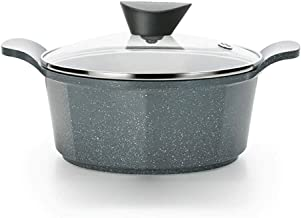 DIAOD Ceramic Soup Pot with Lid, Healthy Pot, Quart Soup Pot with Lid, Double Ear Non stick Pot (Color : Wheat)