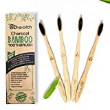 Nubeter Bamboo Zahnbürsten | Packung mit 4 Stück Umweltfreundlich Natürliche Zahnaufhellung | Vegan freundlich Recyclingfähige Verpackungen | 100% biologisch abbaubar | 4packs