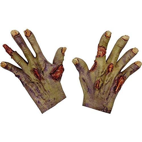 Generique - Gants Mains Brûlées Adulte Halloween