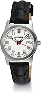 Wenger Field Classic White Dial Leather Strap Ladies Watch 01.0411.109
