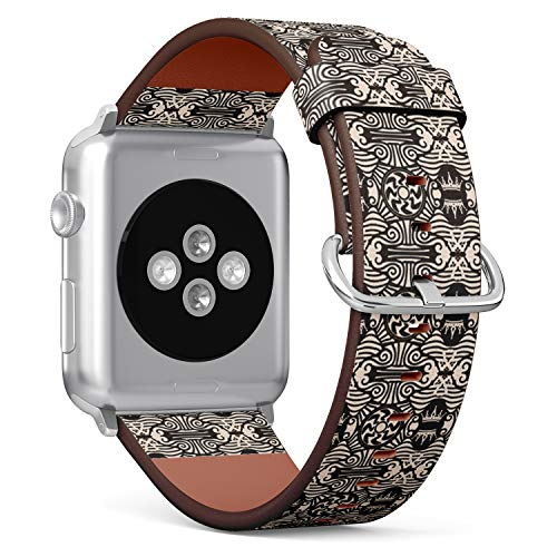 Compatible with Apple Watch (Big 42mm/44mm) Series 1,2,3,4 - Leather Band Bracelet Strap Wristband Replacement - Celtic Geometry