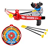 TekkPerry Kids Archery Set with Bow and Arrows, Archery Crossbow Set, Kids Crossbow Toy with Suction Cup Arrows and Target, Shooting Game for Kids Adults Indoor Outdoor