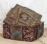 Ebros Stonemasons Masonic Fraternity Logo Small Decorative Box Freemasonry Square and Compasses Regalia With All Seeing Eye Of Providence Symbol Christian Ritual Morality Jewelry Trinket Stash Storage