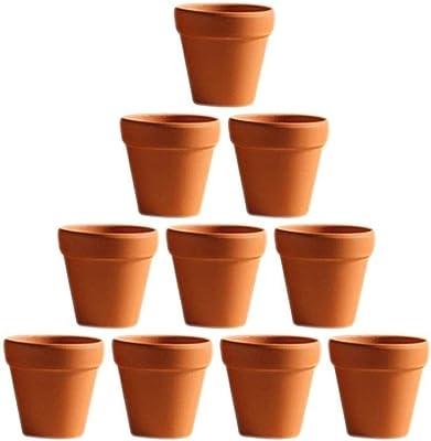 2x Terracotta Pot Clay Ceramic Pottery Planter Flower Garden-Pots Small//Mini
