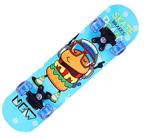 Z1 Skateboard blinkende Räder, 58,1 cm (23,2 Zoll), Kunststoff, klassisches Mini-Skateboard, mit biegbarem Deck...