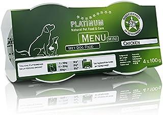 プラチナム ナチュラル ドッグフード : チキン(100g x 12 トレイ) 無水調理ウェットフード (ドッグフード,アレルギー,ウェットフード,犬,グレインフリー,グルテンフリー)