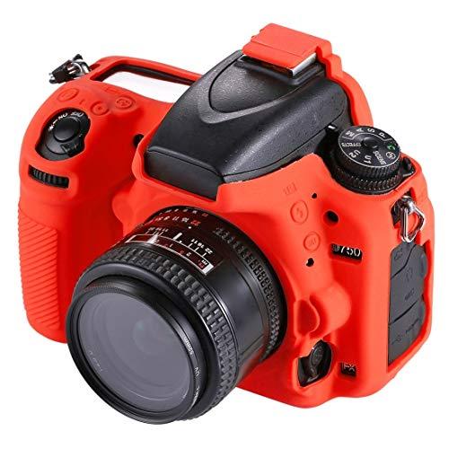 YANTAIANJANE Accesorios de la cámara Funda Protectora de Silicona Suave for Nikon D750 (Color : Red)