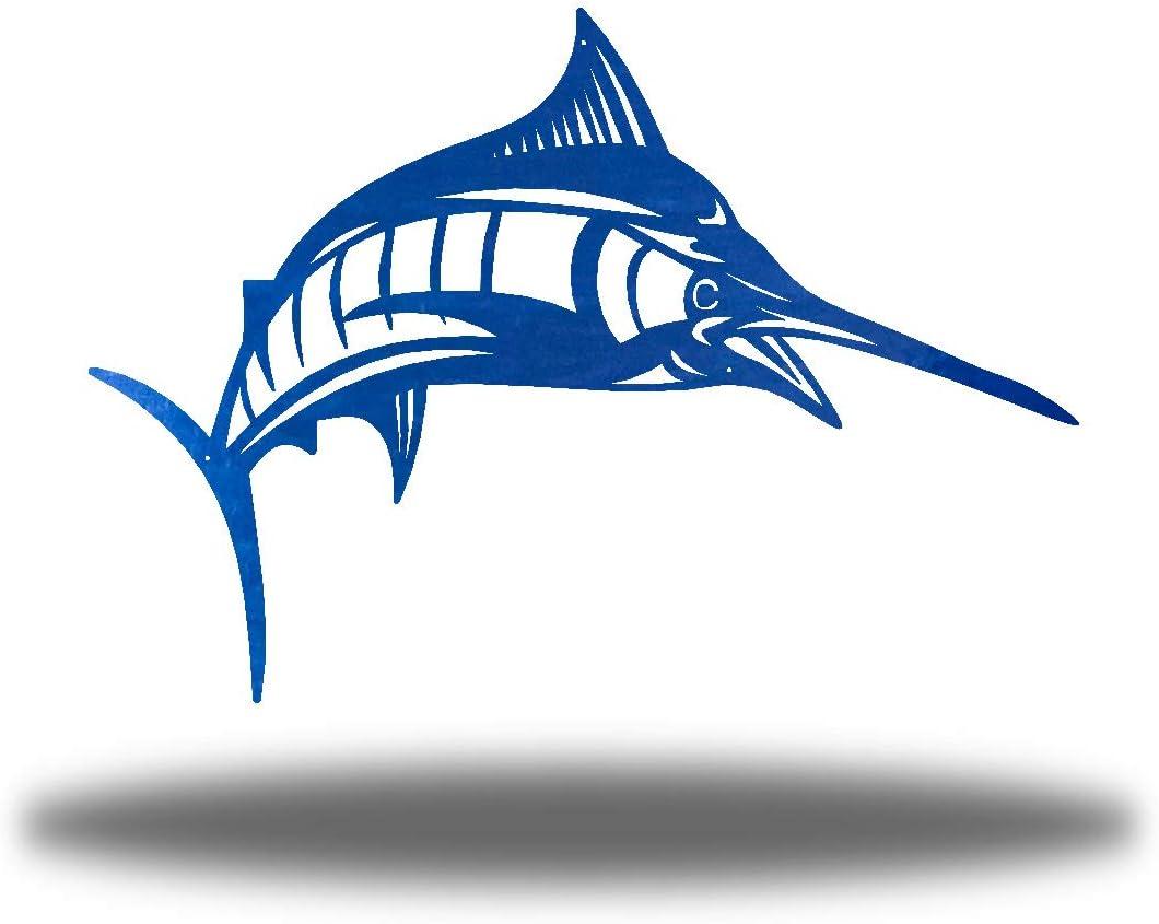 Riverside 豊富な品 Designs The Blue Marlin Metal 驚きの値段で Hanging Art Wall Sculptu
