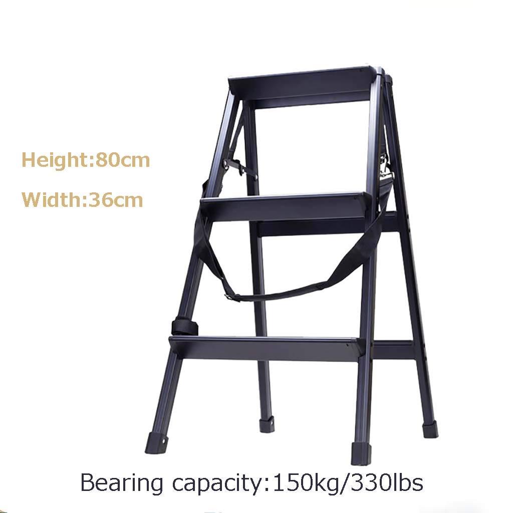 Escalera plegable de aleación de aluminio, escalera de escalera gruesa, portátil, antideslizante en 3 pasos, escalera para fotografía en casa: Amazon.es: Bricolaje y herramientas