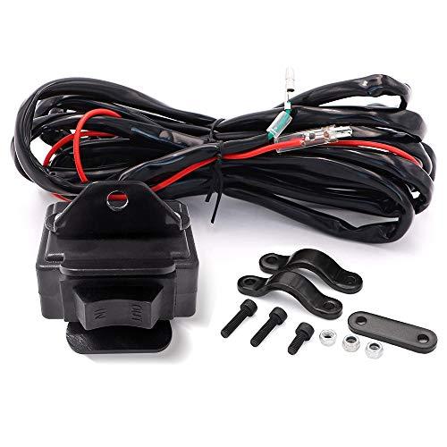 RUGCEL WINCH 12V Winch Rocker Thumb Switch Combo Universal for ATV/UTV 1500lb to 5000lb Winch Replacement Rocker Handlebar Control Switch
