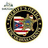 A/X Sticker de Carro 13cm x 13cm Tuscarawas County Sheriff's Office calcomanía Ventana Pared Pegatina para Coche Accesorios Impermeables para Coche
