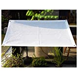 YANZHEN Filets Protection Solaire Double-line Wrap Edge Privacy Protection Encryption Shade Rate 80% Dust-proof Patio Greenhouse, White (Size : 1x1.5m)