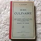 Guide Culinaire - Ernest flammarion, éditeur