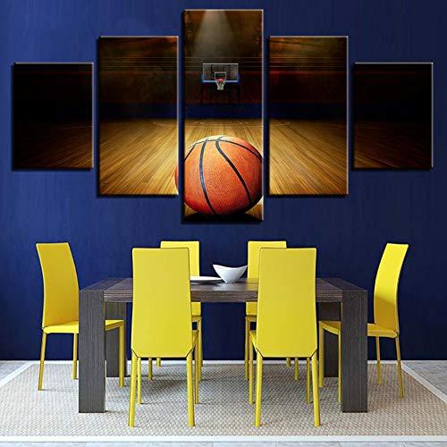 GYSS 5 Panel Hd Moderne gedrukte posters Home Decoration schilderij Basketball Tableau muurkunst canvas fotolijst