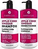 BELLISSO Apple Cider Vinegar Shampoo and Conditioner...