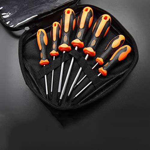 ZZABC LUSDTJGJ Destornillador de precisión 6/7/8/10 PCS Establecer bits magnéticos Tuercas de Tornillo ranuradas Tecla de Electricista Reparación DIY Herramienta de Mano Kits (Size : 7Pcs)