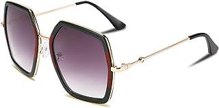 FEISEDY Women Large Hexagon Inspired Sunglasses Fashion Irregular Design Style Geometric B2503
