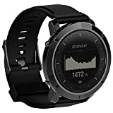 QGHXO Band for Suunto Traverse, Replacement Silicone Band with Screwdriver for Suunto Traverse Series Watch (BK)