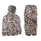 Auscamotek 3D Quiet Leafy Suit for Hunting Airsoft X-XXL Dry Grass