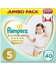 Pampers Premium Care, Size 5, Junior, 12-18 kg, Jumbo Pack, 40 Diaper Pants
