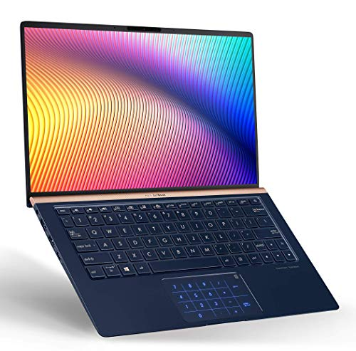 "ASUS ZenBook 13 Slim Laptop 13.3"" FHD WideView, 8th-Gen Intel Core i7-8565U Processor, 8GB RAM, 512GB PCIe SSD, Backlit KB, NumberPad, Military Grade, Windows 10, UX333FA-AB77, Royal Blue"
