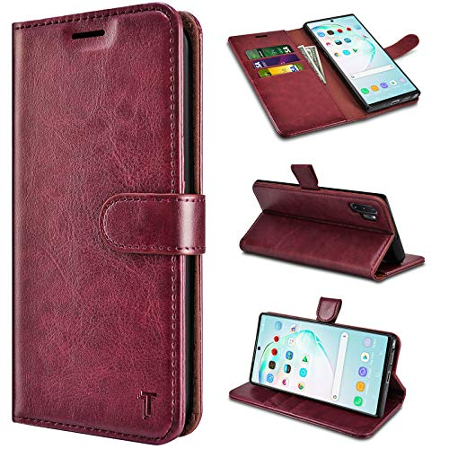 Horse Leather Cover Wallet for Samsung Galaxy Note 10 Simple Flip Case Fit for Samsung Galaxy Note 10