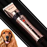 HANSPROU Upgraded Dog Shaver Clippers Rechargeable Dog Clipper for Thick Heavy Coats Low Noise Pet Trimmer Pet Professional Grooming Clippers with Guard Combs Brush for Dogs Cats and Other Animals