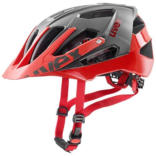 Uvex Unisex– Erwachsene, quatro Fahrradhelm, grey red, 52-57 cm