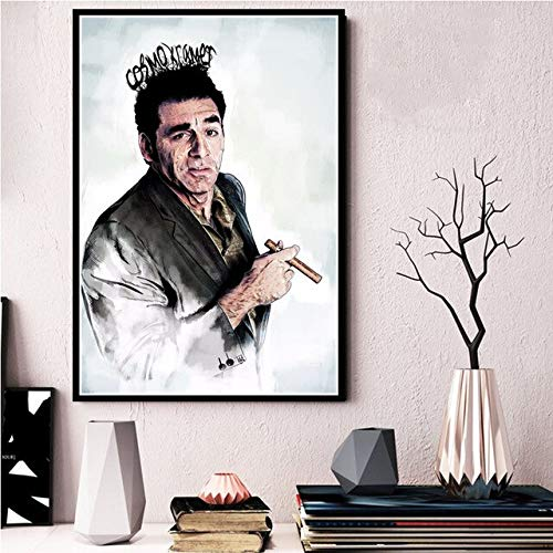 shuimanjinshan Seinfeld Kramer Portrait Artwork Painting Art Poster Canvas Painting Wall Picture Home Decor Posters and Prints 40x50cm No frame F521
