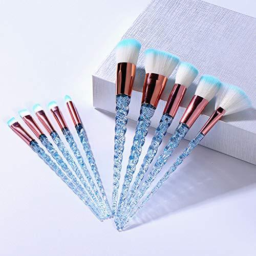 Pinceaux Maquillages 10 Pcs Pinceaux De Maquillage Ensemble Cristal Brosse Poudre Blush Foundation Fard À Paupières Brosse Couleur Aléatoire