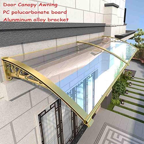 Deur luifel luifel, deur luifel, PC polycarbonaat luifel regenopvang voor voordeur veranda en ramen 60×200cm
