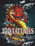 100 Tatuajes - Libro de Colorear para Adultos: Una magnífica selección de diseños de tatuajes modernos para colorear, aliviar el estrés y relajarse. ... corazones, flores, animales y mucho más