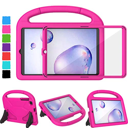 TIRIN Case for Samsung Galaxy Tab A 8.4 2020 SM-T307 - Tab A 8.4 Kids Case Built-in Screen Protector, Shockproof Light Weight Handle Stand Kids Case for Galaxy Tab A 8.4 inch 2020 Release - Rose