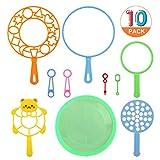 GWHOLE 10 Piezas Juguetes Burbujas Herramientos Pompas de Jabón para Niños, Tamaños Variados Ideal para Cumpleaños Fiestas al Aire Libre , Juegos Dirvertidos Verano, Juguetes Regalos