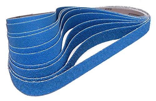 Klingspor CS 411 X Schleifband | 25 x 762 mm | 10-teiliges Premium-Set | Je zwei Bänder der Körnungen 36/40/60/80/120