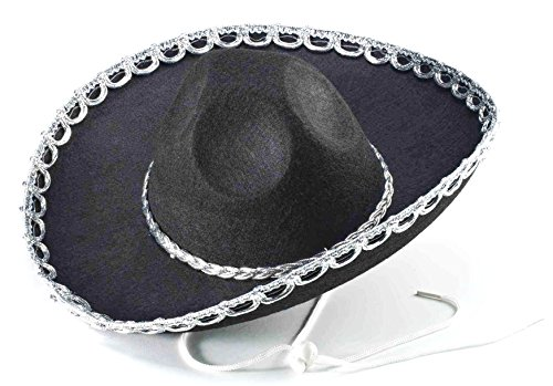 Forum Novelties Mini Brim Mexican Western Sombrero Black Costume Hat (Child Size)