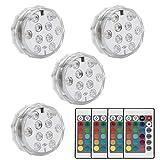 LED-Licht mit Fernbedienung Batteriebetriebene RGB-Farbe wasserdichtes Licht - Weiß (2)