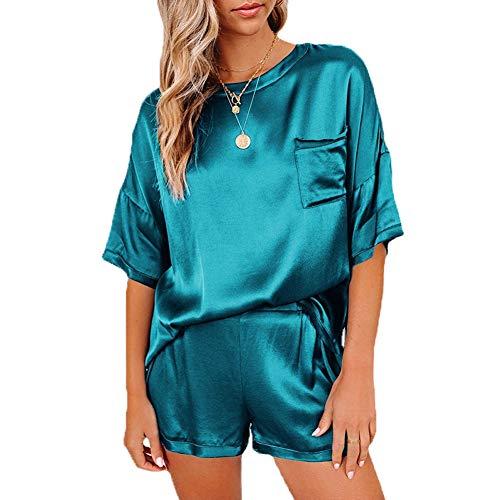 Surwin Conjunto 2 Piezas Mujer Verano Crop Top y Short, Camisetas Tops...