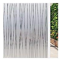 JINRAN 静的しがみつく装飾的な窓のフィルムビニール非粘着プライバシーフィルム、熱CotrolアンチUV粘着ウィンドウステッカー (Color : 45x200cm)
