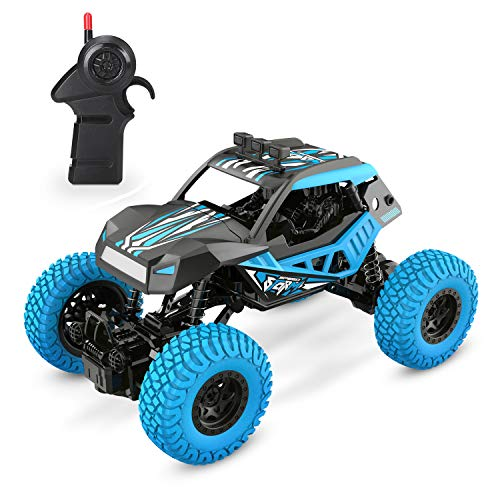 DEERC DE32 RC Cars Remote Control Monster Trucks for Kids 1/20 Scale 2.4GHz Racing Toy Trucks with Rechargeable Battery,RC Crawlers,Hobby Toy Cars for Adults Boys & Girls