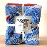Sharks No-Sew Throw Blanket Fleece Fabric Kit (50x60)