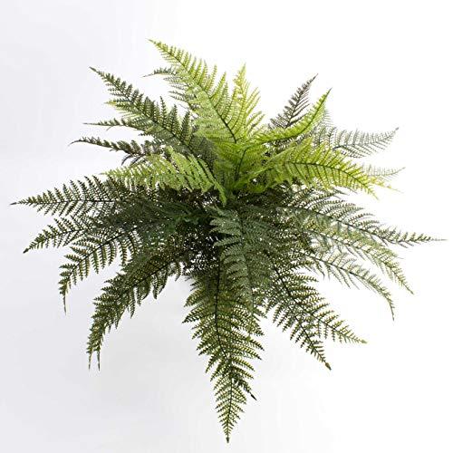 Felce Florida Decorativa Aaron, 35 Foglie, Verde, con gambo, 50 cm, Ø 65 cm - Felce artificiale/Pianta da interni - artplants