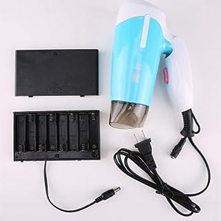 Secador De Cabello Plegable, Con Compartimento Para Batería, Cable Usb, Azul
