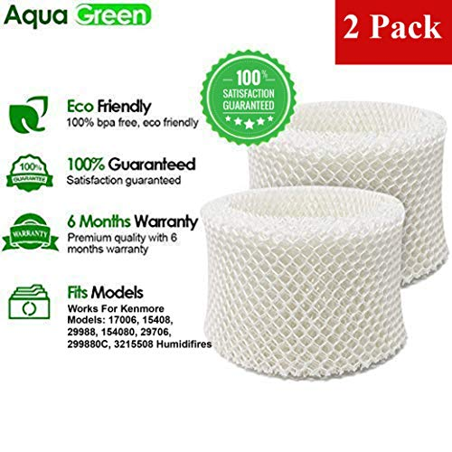 AQUA GREEN 15508 Compatible with Kenmore 15508, MAF2 Humidifier Replacement Wick Filter - 2-Pack