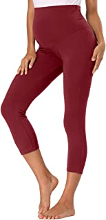 PACBREEZE Maternity Leggings Over The Belly Stretchy Pregnant Trousers Maternity Yoga Active Pants
