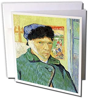 Van Gogh Self Portrait With Bandaged Ear - Greeting Card, 6 x 6 inches, single (gc_153840_5)