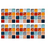 NGLSCXR Azulejos de mosaico 3D de 60 PC, azulejos de pared de palillo BRICOLAJE Etiqueta engomada, pegatinas de azulejos de pared autoadhesiva, calcomanías de azulejos pegatinas autoadhesivo espalda d