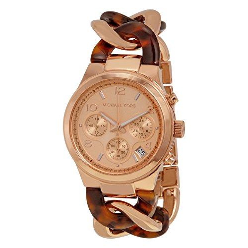 Michael Kors Runway Twist reloj (tortuga/Oro rosa)