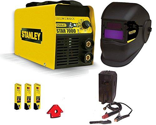 Stanley Schweißgerät Inverter Stanley 7000200A, mit Schweißmaske, Elektroden, Schweißmagnet